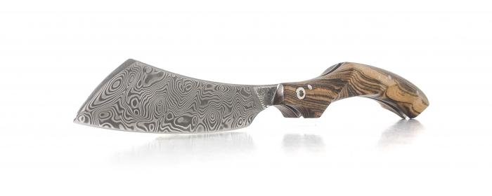 Le phasme folding knife damasteel bocote handle