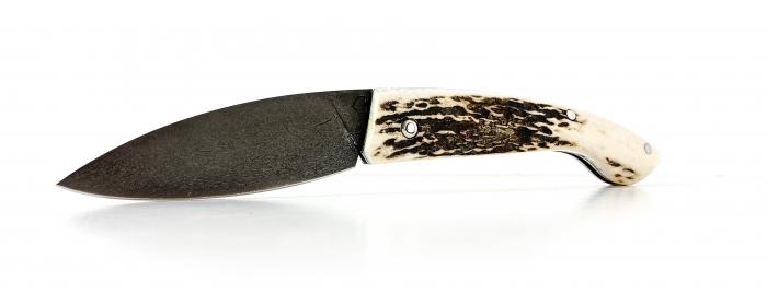 Couteau Ariégeois pliant cran plat cerf