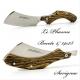Le phasme folding knife Damas - Green micarta
