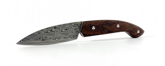 Couteau Ariégeois pliant cran plat Bois de fer D'Arizona