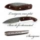 Ariégeois folding knife Desert ironwood Damasteel Blade