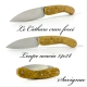 Le cathare folding knife with acacia handle
