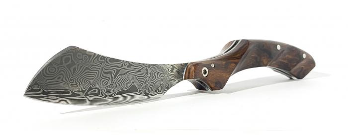 Couteau le phasme Damas Bois de fer d'Arizona
