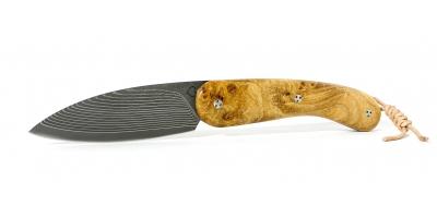 Couteau le cathare cran plat loupe orme