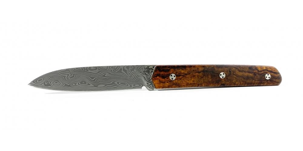 Couteau le Montagnol cran plat Bois de fer