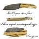 Couteau le Roques cran forcé Ebène Royale