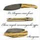 Folding knife Le Roques with Royal ebony handle