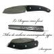 Couteau le Roques fibre de carbone suminagashi sgps