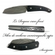 Folding Knife le Roques carbon fiber suminagashi sgps