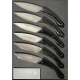 Knives set of 6 table knives Ariégeois black horn