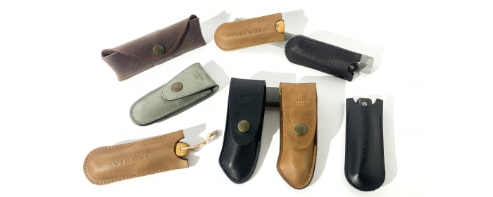 leather sheath and pouch
